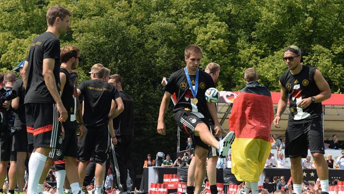 Philipp Lahm, Lukas Podolski, Thomas Müller