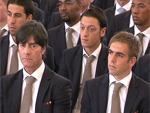Joachim Löw, Philip Lahm, Mesut Özil, Sami Khedira, Jerome Boateng (Foto: HauptBruch GbR)