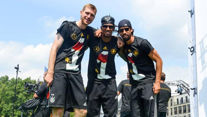 Per Mertesacker, Sami Khedira, Jerome Boateng
