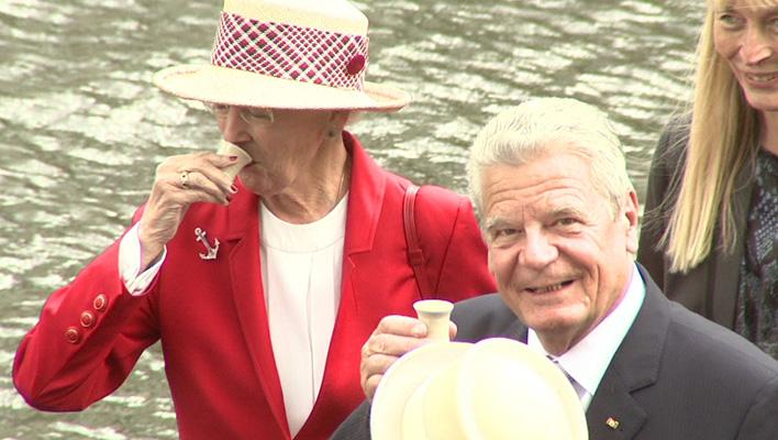 Königin Margrethe von Dänemark und Bundespräsident Joachim Gauck (Foto: HauptBruch GbR)