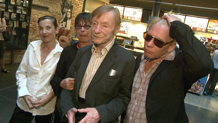 Ben Becker, Otto Sander, Monika Hansen und Meret Becker (Foto: HauptBruch GbR)