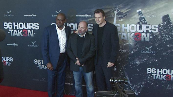 Liam Neeson, Forest Whitaker, Olivier Megaton (Foto: HauptBruch GbR)