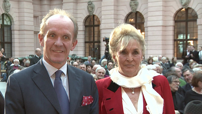 Fürstin Elisabeth von Bismarck und Sohn Gregor von Bismarck (Foto: HauptBruch GbR)