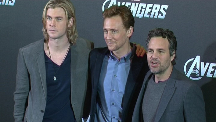 Avengers Chris Hemsworth, Tom Hiddleston, Mark Ruffalo (Foto: HauptBruch GbR)
