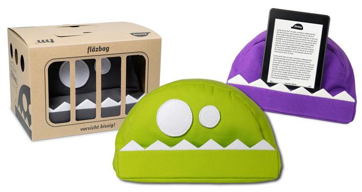 Kissen Für Tablet vorsicht bissig: das fläzbag-kissen für dein tablet   tikonline.de