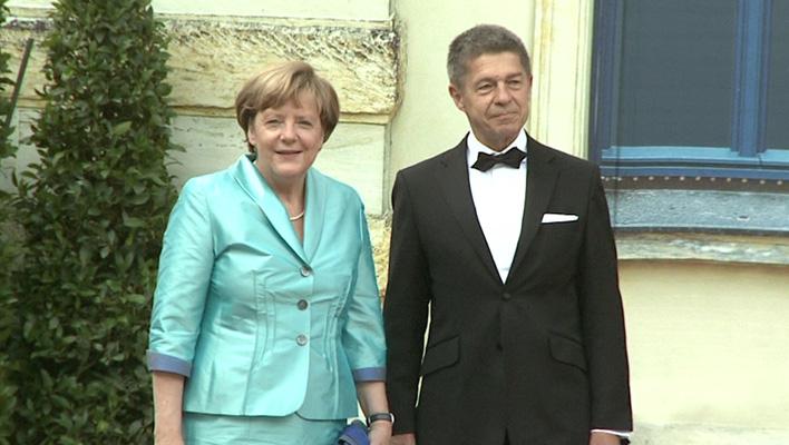 Angela Merkel und Ehemann Joachim Sauer (Foto: HauptBruch GbR)