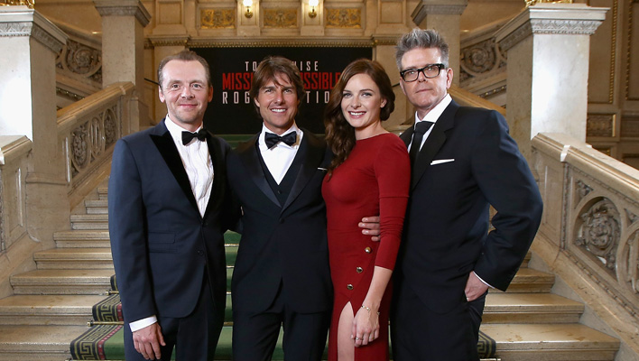Simon Pegg, Tom Cruise, Rebecca Ferguson und Christopher McQuarrie (Foto: Andreas Rentz/Getty Images for Paramount Pictures International)