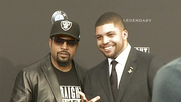 Ice Cube und Sohn O'Shea Jackson Jr. (Foto: HauptBruch GbR)