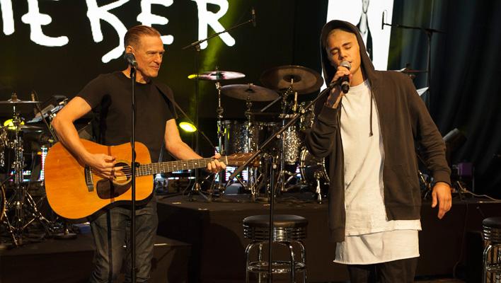 Bryan Adams und Justin Bieber (Foto: Julia Schoierer)