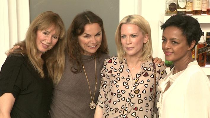 Maria Koteneva, Anna von Griesheim, Tamara Gräfin Nayhau? und Dennenesch Zoudé beim Ladies Lunch 2015 (Foto: HauptBruch GbR)