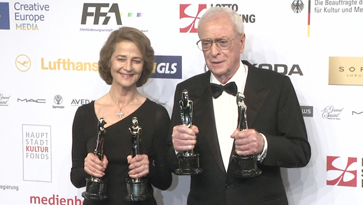 Charlotte Rampling und Sir Michael Caine (Foto: HauptBruch GbR)