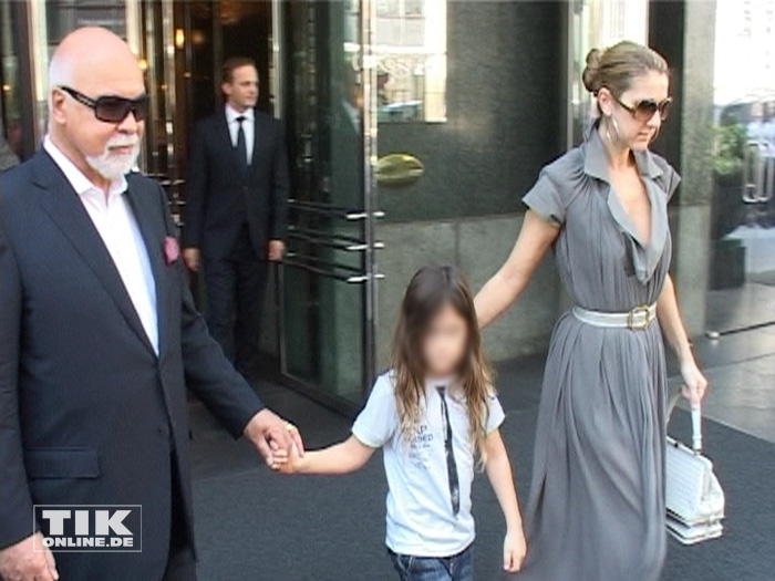 Celine Dion mit Ehemann René Angélil und Sohn René-Charles (Foto: HauptBruch GbR)