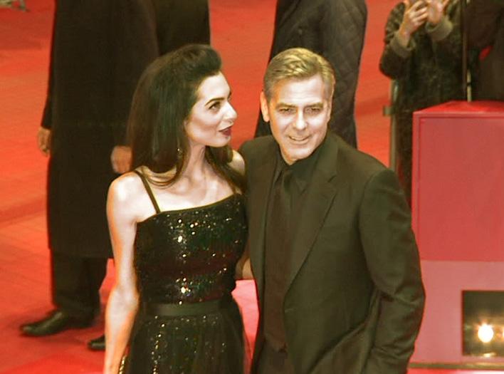 George Clooney brachte zur Eröffnung der 66. Berlinale erstmals seine Frau Amal Clooney mit nach Berlin