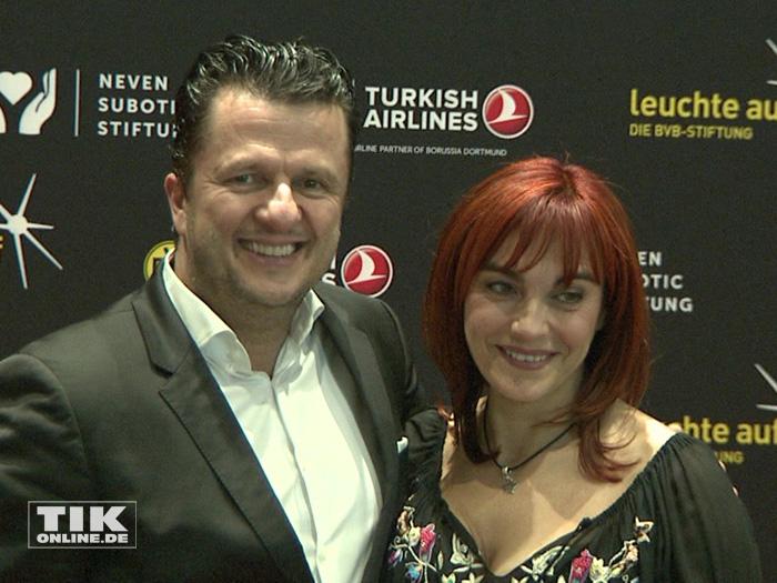 Diana Eichhorn und ihr Ehemann bei der 2. Turkish Airlines Chaity Night in Dortmund