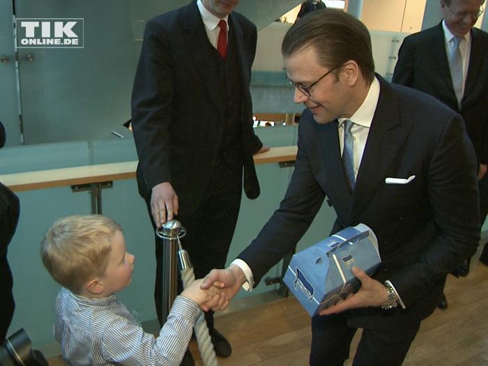Prinz Daniel von Schweden zu Besuch in Deutschland
