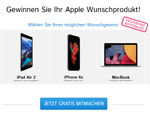 Apple Paket Gewinnspiel