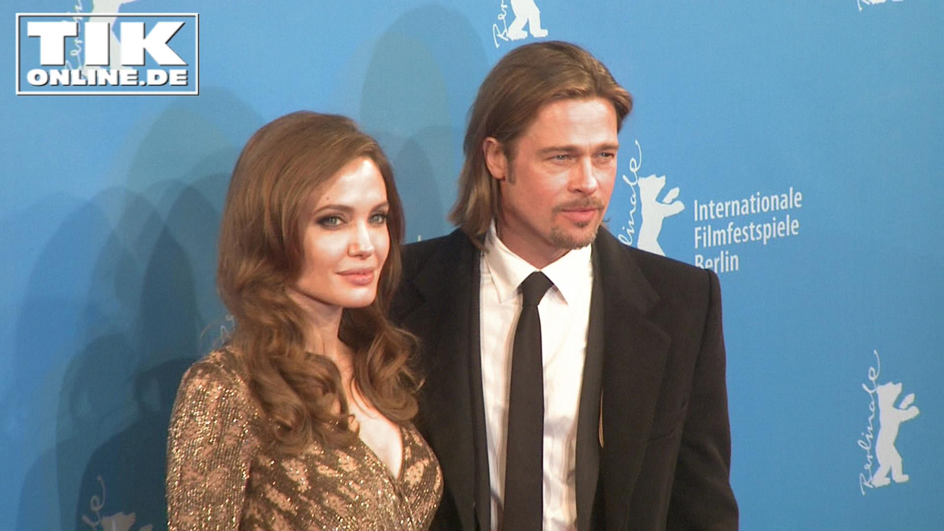 Angelina Jolie und Brad Pitt glücklich auf der Berlinale 2012