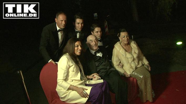 Film-Mogul Artur Brauner mit Ehefrau Maria sowie Tochter Alice mit ihrem Ehemann Michael Zechbauer und ihren Söhnen Ben und David