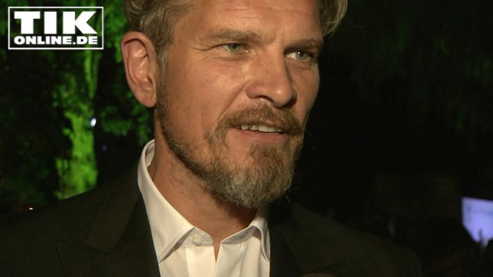 Schauspieler Götz Otto mit Bart