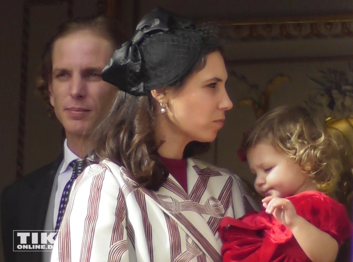 Andrea Casiraghi mit Ehefrau  Tatiana Santo Domingo Rechulski und Tochter India