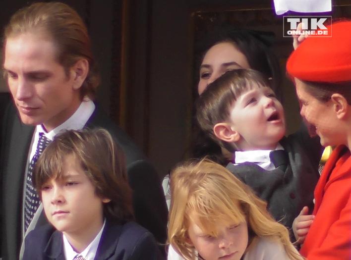 Charlotte Casiraghi mit ihrem Sohn Raphael und ihrem Bruder Andrea Casiraghi