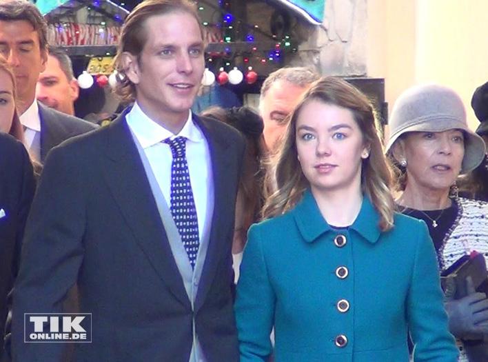 Andrea Casiraghi mit seiner Halbschwester Alexandra von Hannover