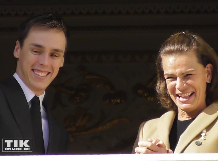 Stephanie von Monaco mit ihrem Sohn Louis