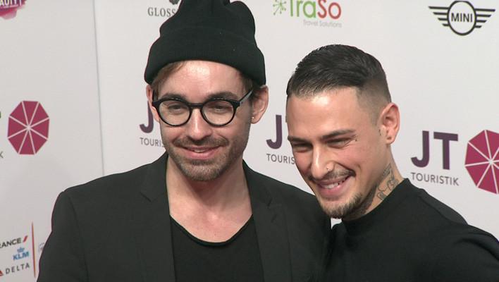 Daniel Küblböck mit seinem guten Freund Rosario Ray