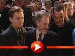 Leonardo DiCaprio mit Tom Hanks und Steven Spielberg