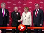 Angela Merkel und Wladimir Putin (Foto: Mhoch4 GmbH & Co. KG)