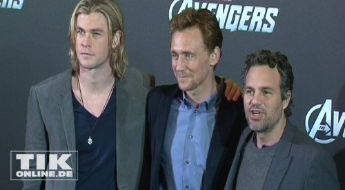 The Avengers - Chris Hemsworth, MArk Ruffalo, Tom Hiddleston (Foto: HauptBruch GbR)