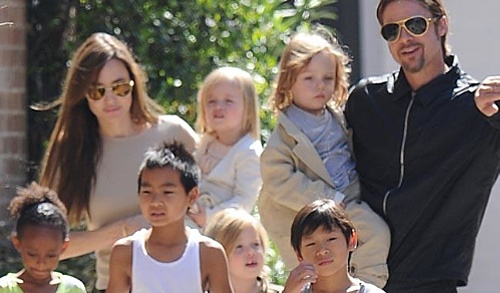 Brangelina mit Kids