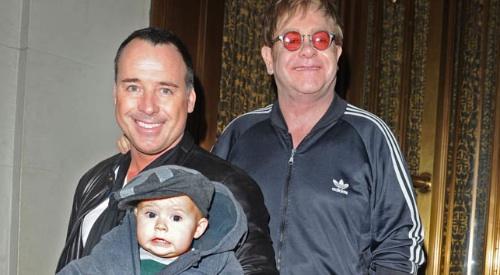 Elton John, David Furnish und Zachary