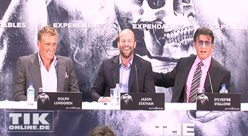 Dolph Lundgren, Jason Statham und Sylvester Stallone (Foto: HauptBruch GbR)