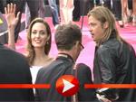 Brad Pitt und Angelina Jolie rauschen am roten Teppich in Berlin an