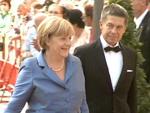 Angela Merkel: Freut sich über Schumacher und die Nationalmannschaft