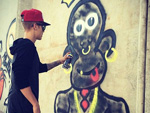 Justin Bieber: Graffiti für die Philippinen