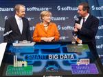 Angela Merkel: Mit David Cameron auf der CeBIT