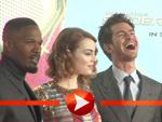"""Emma Stone, Andrew Garfield, Jamie Foxx und Dane DeHaan bei der """"Spider-Man 2""""-Premiere in Berlin"""