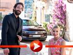 Adrien Brody und Lena Gercke testen ihre Fahrkünste