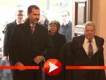 König Felipe von Spanien mit Letizia auf Staatsbesuch bei Joachim Gauck