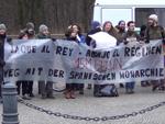 """Proteste gegen König Felipe und Letizia in Berlin: """"Weg mit der spanischen Monarchie"""""""