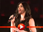 Conchita Wurst performt in Berlin