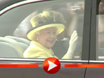 Queen Elizabeth II. am Brandenburger Tor