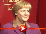 Die dreifache Angela Merkel bei Madame Tussauds Berlin
