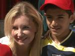 Jette Joop mit Flüchtlingskindern im Zoo: Würde sie ein Kind bei sich aufnehmen?