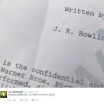 J.K. Rowling: Ist das zweite Drehbuch fertig?