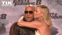 """""""Fast & Furious 8""""-Premiere Charlize Theron küsst Vin Diesel in Berlin!"""