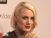 Lexi Hell war mit ihren Tattoos ein Hingucker beim 99Fire Film Award