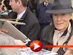 Clint Eastwood Ankunft in Berlin